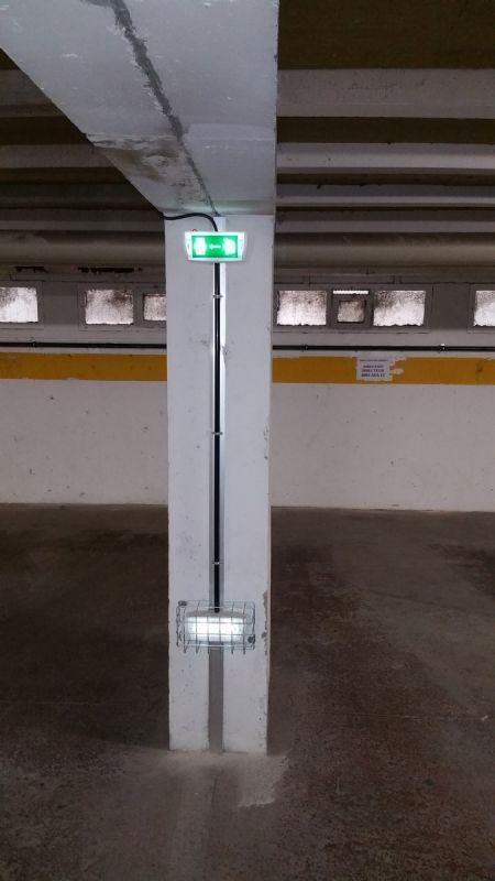 R novation d 39 clairage de parking sous terrain sur for E parking marseille