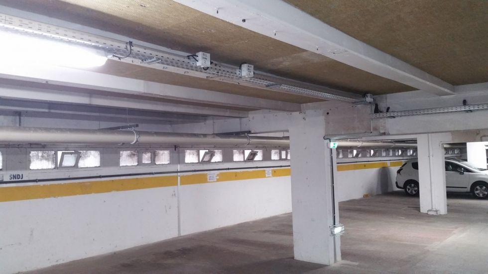 R novation compl te de l 39 lectricit d 39 un parking sous for Norme eclairage parking exterieur