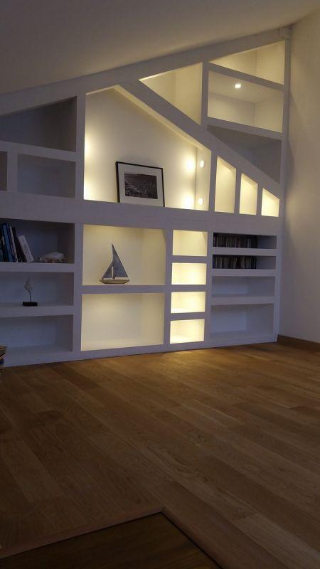 Eclairage Decoratif D Une Bibliotheque Avec Des Spots Led Extra Plat